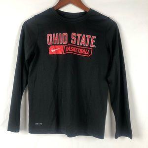 Nike Dri-Fit Ohio State Basketball Tee Big Boys L